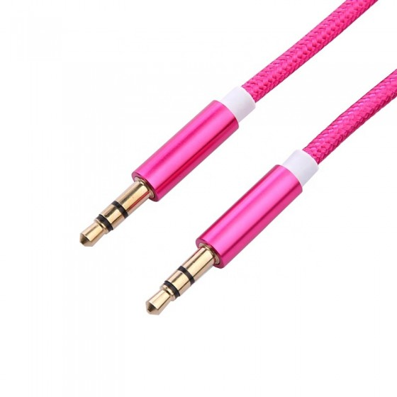 Aux-Kabel Nylon 1,5m - 3.5mm